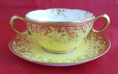 Tiffany New York, Suppentasse mit Untertasse Soup cup with saucer, Minton marks