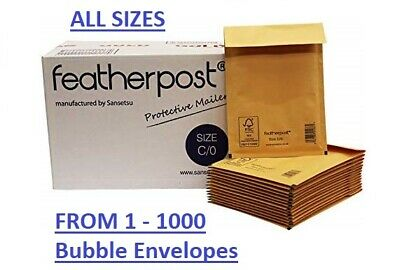 White / Gold Bubble Featherpost Mail Padded Envelope A000 B00 C0 CD D1 E2 1-1000