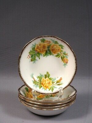 Royal Albert Yellow Tea Rose Fruit Dessert Bowl(s) Nappy Bone China England
