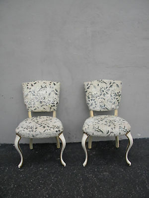 French Painted Pair of Living Room Side by Side Chairs 3602
