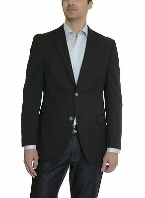 Alfani Slim Fit Solid Black Wool Blend Two Button Sportcoat Blazer 44S