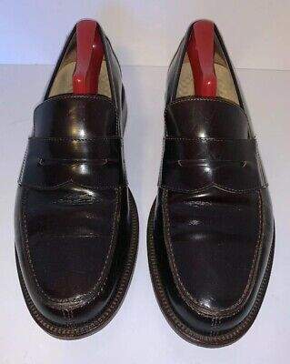 89dfeb2ba0c Johnston   Murphy Men 9.5 M Penny Loafers Black Leather XC4 Italy Made 4583