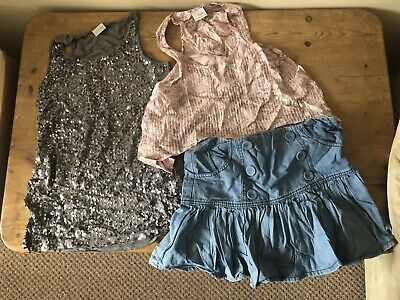 Girls Next/George Sparkly Top & Denim Skirt Bundle Age 11 Yrs