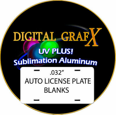 """Aluminum Sublimation Auto License Plate Blanks 100PCs .032""""thick FREE DELIVERY"""
