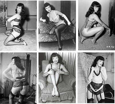 BETTIE PAGE VINTAGE JOB LOT OF 20 B/W PHOTOGRAPHS 7 X 5 REPRINTS 1950s PIN UP