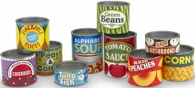 Melissa & Doug CANNED FOOD SET Pretend Play Toy/Gift Toddler/Child BN