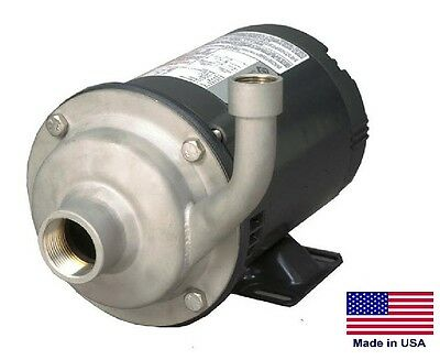 """STRAIGHT CENTRIFUGAL PUMP - 5700 GPH - 1 Hp - 230/460V - 1.5"""" In / 1.25"""" Out"""