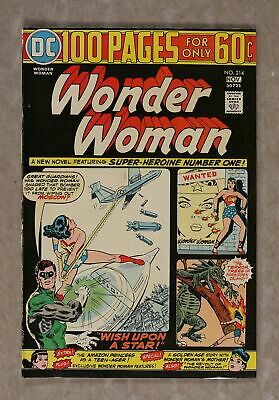 Wonder Woman (1st Series DC) #214 1974 VF+ 8.5