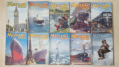 Large joblot of 50 Meccano Magazines December 1945 - March 1952 intermittently