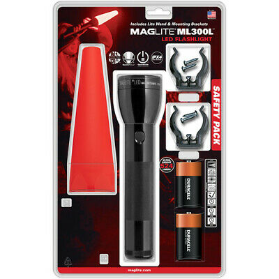 Maglite ML300L Safety Pack with LED Flashlight (Black)