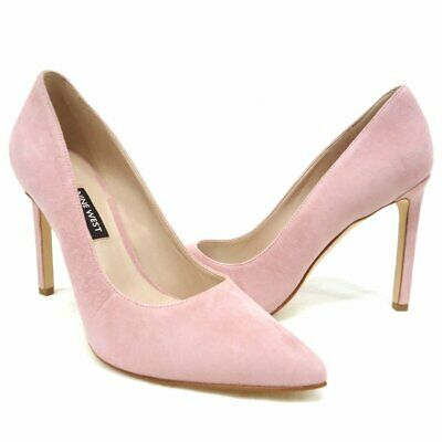 where to buy new collection best sneakers NEW $79 NINE West Tatiana Pastel Pink Suede High Heel Pumps ...