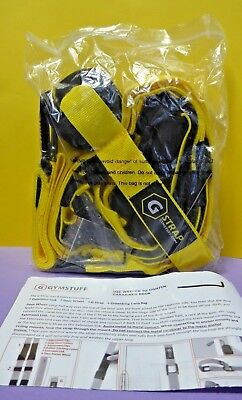 Gymstuff G-STRAP Suspension Body Fitness Trainer Resistance Home Gym Yellow