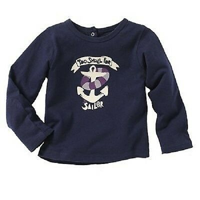 Baby Boys Long Sleeve Top In Dark Blue  From Cocoon Bnwt