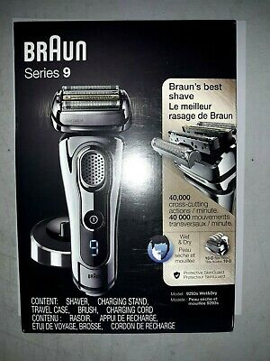 Braun Series 9 9293s Wet Dry Pivot Electric Shaver Charging Stand /Travel case