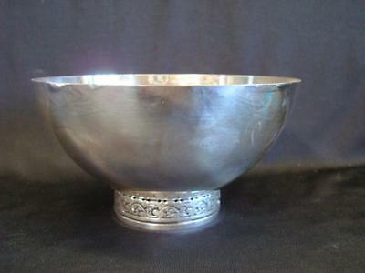 Vintage Eisenberg Lozano Silver Plate Bowl with Foot