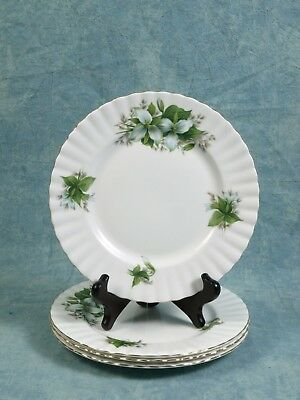 Royal Albert Trillium BREAD & BUTTER DESSERT PLATE gold white green