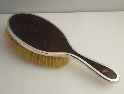 George V Solid Silver Mounted Hairbrush - London 1925