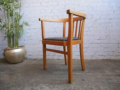 Vintage Retro 50s 60s Mid Century Industrial Bentwood Tub Desk Chair Armchair  A