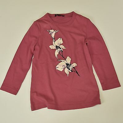 Banana Republic Girls Long Sleeve Pull over Top Pink Size Small Flowers