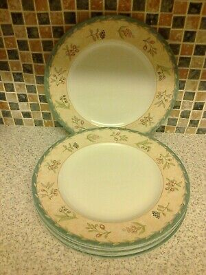 Tudor Made In England 6 X Dinner Plates Festival Design Fruit & Berry Design