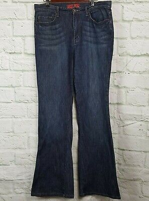 db6887b5e NY & Co Women's Jeans West Side Flare Jeans Size 14 Tall Dark Wash