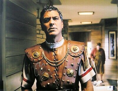 George Clooney Signed Autographed 11X14 Photo Hail, Caesar! Sexy Star GV837847
