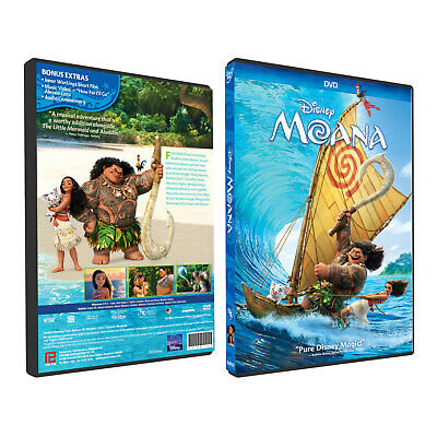 Moana (DVD) 2016 New & Sealed - Film Dick Movie Cartoon - Kids - Family