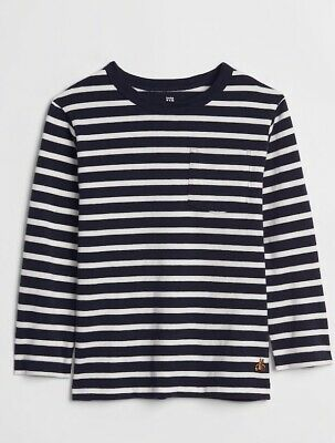 NWT Toddler Boys size 5T Stripe long sleeve t-shirt by Baby Gap