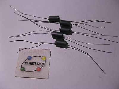 Ferrite Core Choke Coil Inductor 10mm long 5mm dia Axial 2 Loops - NOS Qty 5