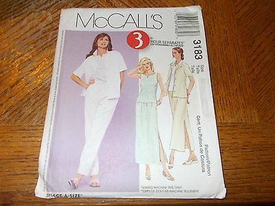 McCalls Pattern M6565 Ms EZ Fitted Pullover Lined Tops w//Pleat~Pocket~Sleeve Opt