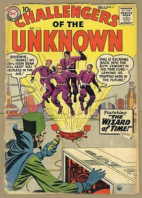 Challengers of the Unknown (DC 1st Series) #4 1958 FR 1.0