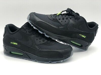 3f0719c29b Nike Air Max 90 Night Ops Black/Black-Volt AQ6101 001 Men's Size 11.5