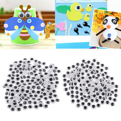 400-Pack 8mm 10mm Self Adhesive Sticky Wiggle Googly Movable Craft Eyes Doll