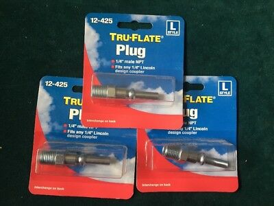 """Tru-Flate Male Quick Connect Plug 1//4 /"""" M Npt Metal 1//4 /"""" Pack of 10"""