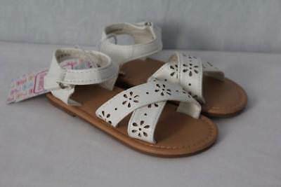 f1fb95127349c NEW Toddler Girls Sandals Size 6 White Summer Wedding Dressy Casual Kids  Shoes