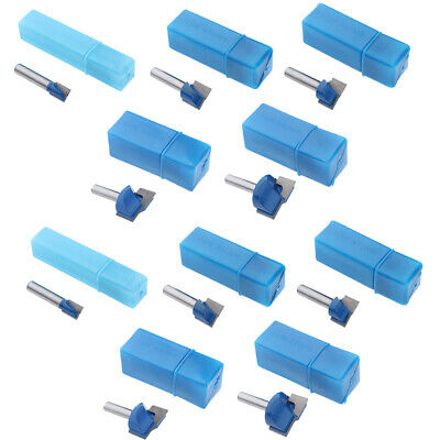 10x 8mm Shank CNC Router Bottom Cleaning Bit Milling Cutter Woodworking Tool