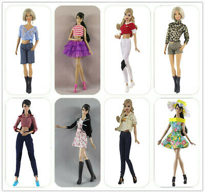 5 Set Doll Clothes Random  Fashion Lovely Dress/outfit Windcoat For 11 in. Doll