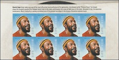 US 5371 Music Icons Marvin Gaye forever header block 8 MNH 2019