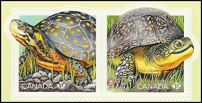 Canada Endangered Turtles 'P' pair set (2 stamps from booklet of 10) MNH 2019