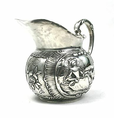 Antique Victorian Sterling Silver Milk Jug Novelty Nursery Rhymes 1898 Import
