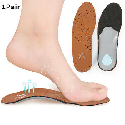 Leather Orthotics Insole Flat Foot Arch Support 25mm orthopedic Insoles SC