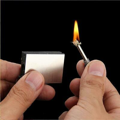 Permanent Metal Match Box Lighter Cigarette Camping Keyring FREE SHIPPING