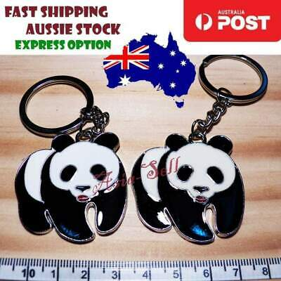 Quality Large 32mm Silver Keyring Cute 40mm Panda Keychain Ring Gift Key Chain