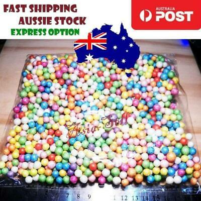 1000 Multi-colour 6-9mm Polystyrene Mini Styrofoam Beads Foam Ball Filler Gift -