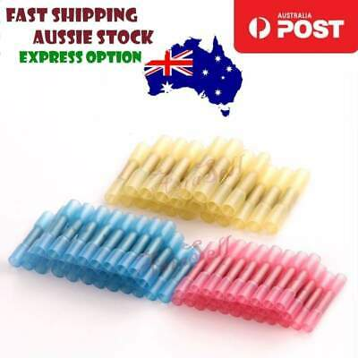 100pcs Waterproof Solder Seal Heat Shrink Butt Cable Crimp Terminals Connectors