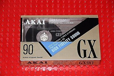 Akai  Gx   90                     Blank Cassette Tape (1) (Sealed)