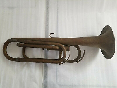 Antique Brass/copper Trumpet Horn For Parts Or Repair