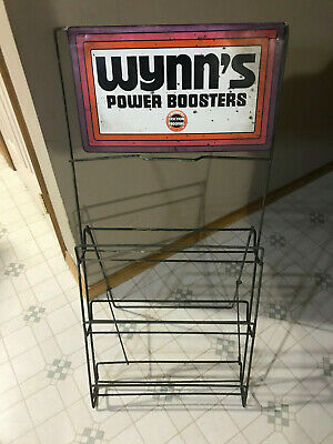 Vntage Oil Can Rack Display 1970 Wynn's Power Boosters Wynn's Friction Proofing