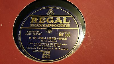 The Cambridge Heath Band Of Salvation Army In The Kings Service Regal Zono Mf366