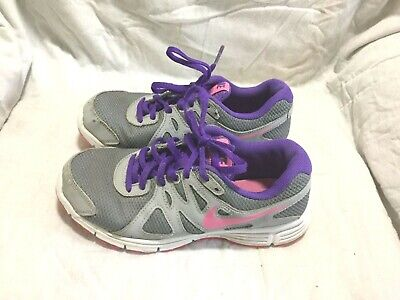 9961db6271 Nike Revolution 2 Running Shoes - Grey Purple Pink -( Size 4.5Y ) Youth